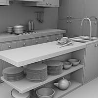 Blender 3D Kitchen model