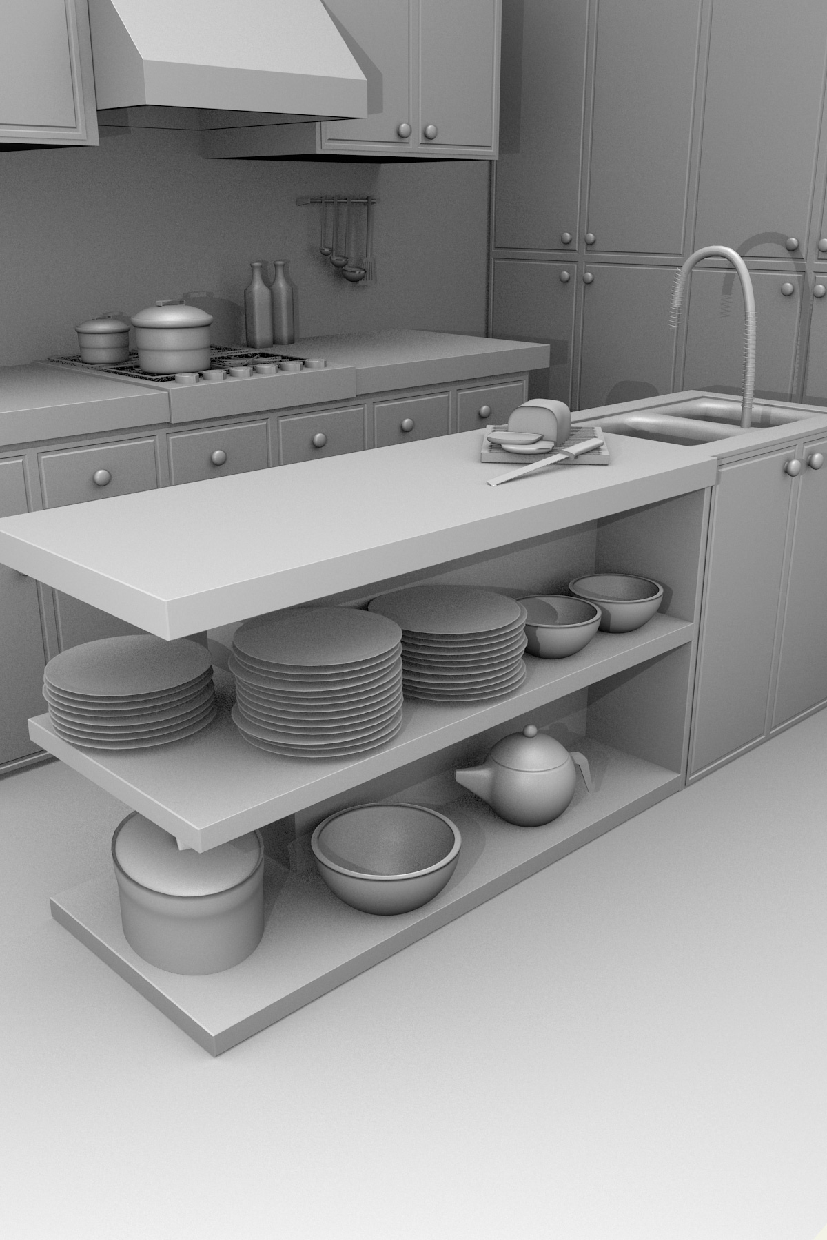 Kitchen 3D Model Blackspike Design Ltd » Blender 3D Kitchen Model