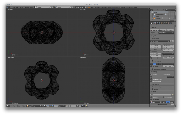 sync logo 3D view wireframe